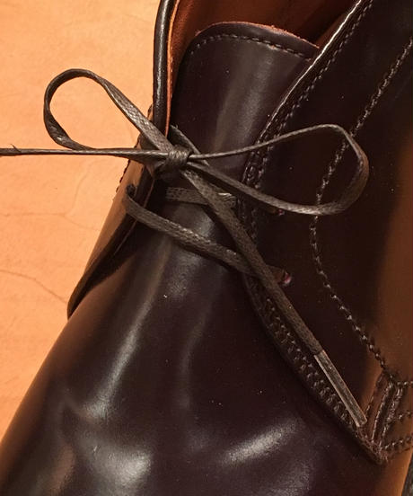 Shoelaces for ALDEN shoes and others /オールデン チャッカブーツ 靴紐 2穴用におすすめです / 丸紐&平紐 / シューレース