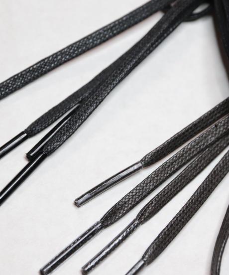 Dark Brown Flat Lace / 焦茶 / 平紐 / ロウ引きシューレース / 4mm幅