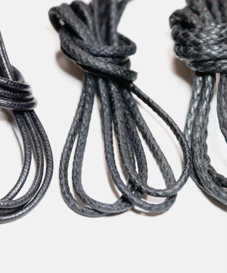 Black Round Lace / 黒 / ブラック / 丸紐 / ロウ引き / レギュラー