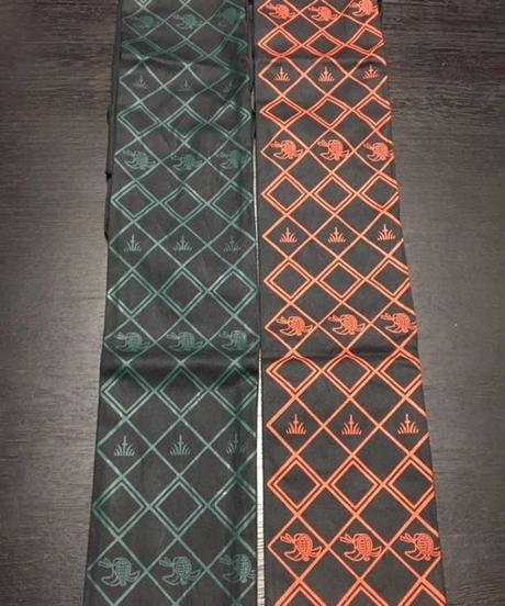 【竹刀袋】黒帆布 お面柄 略式竹刀袋3本入