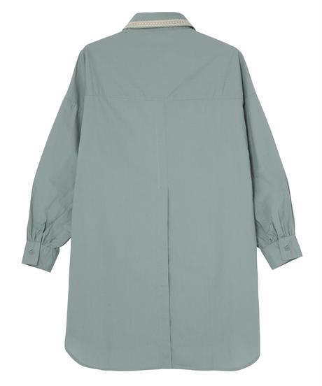 コットンオーバーサイズシャツ グリーン