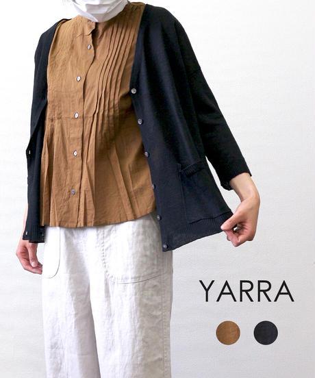 YARRA コットンピンタックシャツ