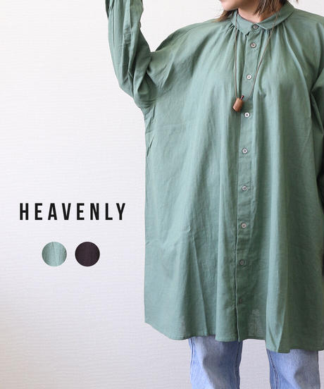 HEAVENLY/ COTTON LINEN CAMBRIC  WIDE SHIRT