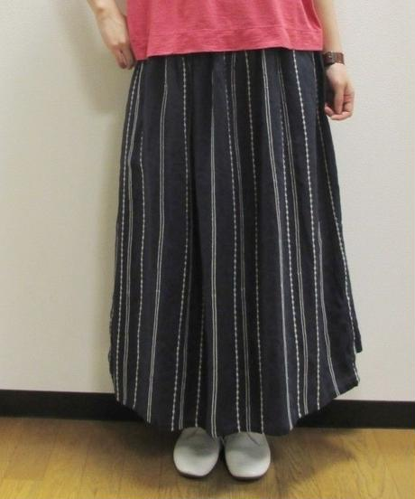 【2019夏】YARRA ドット&ストライプ刺繍スカート