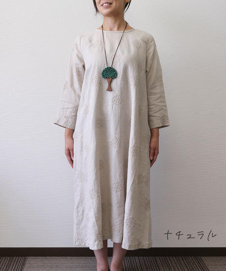 HEAVENLY/ LINEN EMBROIDERY PULLOVER ONEPIECE