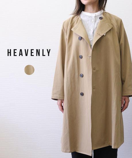 HEAVENLY/ COTTON TWILL NOCOLLAR COAT