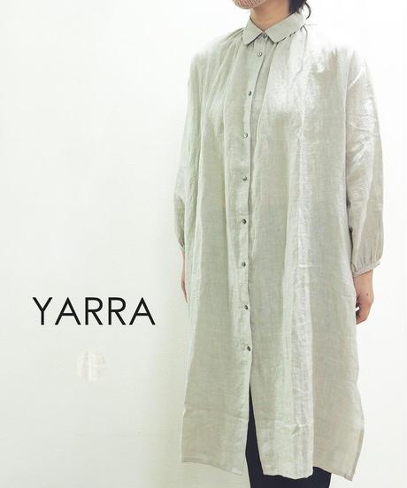 YARRA リネン前開きシャツワンピース