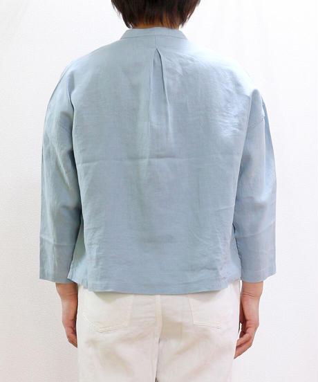 HEAVENLY リネンバンドカラーワイドシャツ