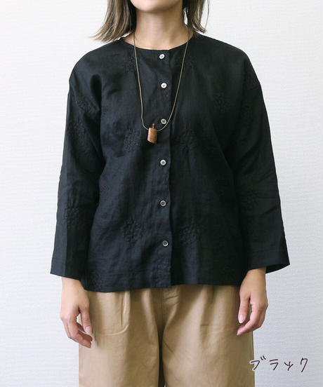 HEAVENLY/ LINEN EMBROIDERY 2WAY PULLOVER