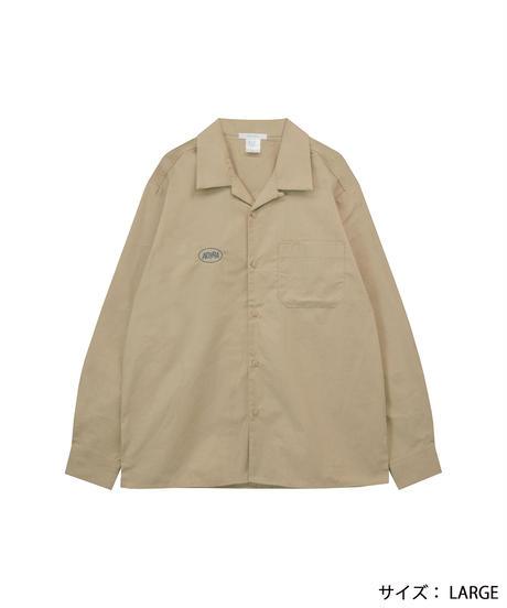 AR213SH0801 ユニセックスオープンカラーL/Sシャツ