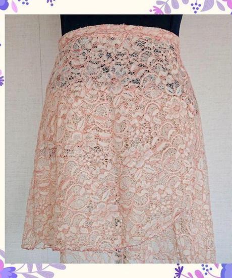 レースバレエ巻きスカート