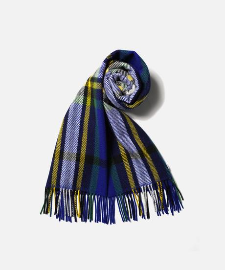[Joshua Ellis] VC51599/scarf Various Check (Tweedy Cobalt M.Green Black )