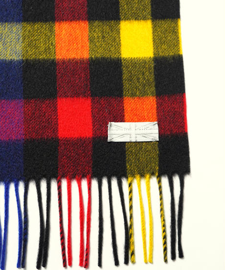 [Joshua Ellis] CPG51590/stole Various Check  (Tweedy Black A.Red Yellow N.Green )