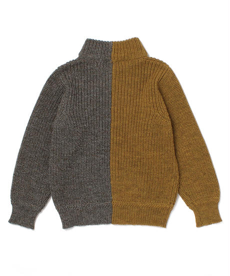[J.J.Mercer] unisex  2Tone High Neck Sweater_HARVEST-DERBY TWEED