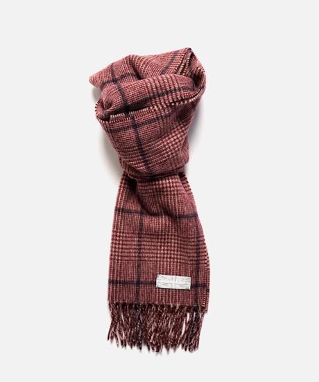 [Joshua Ellis] CP50666/scarf Prince of Wales (cream x crimson x medieval blue)