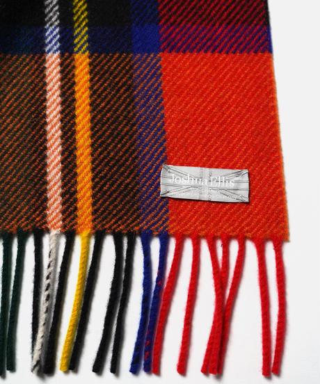[Joshua Ellis] VC51600/scarf Various Check (Tweedy Stewart A.Red Orange)