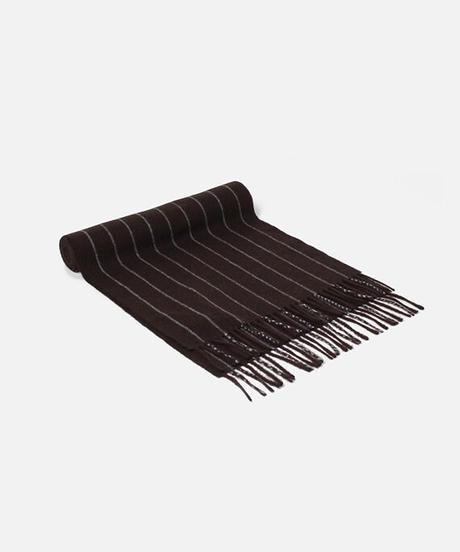 [Joshua Ellis] CP50009/scarf Heritage-Chalk Stripe  (chocolate x dk aqua)