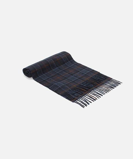 [Joshua Ellis] CP49385/scarf Heritage-House Check  (medieval blue x indigo x n blue heathe)