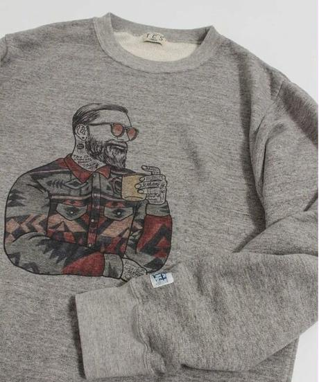 TES MALIBU STAR NAVAHO CREWNECK SWEAT / クルーネックスウェット