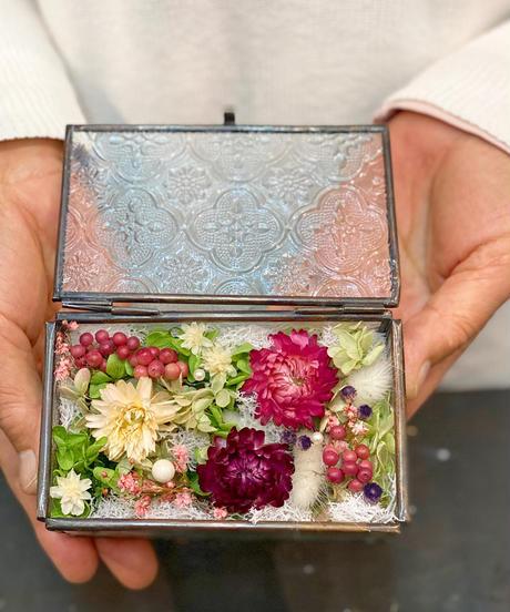 六角ガラスのジュエリーケースM or ブロンズフレームガラスケース