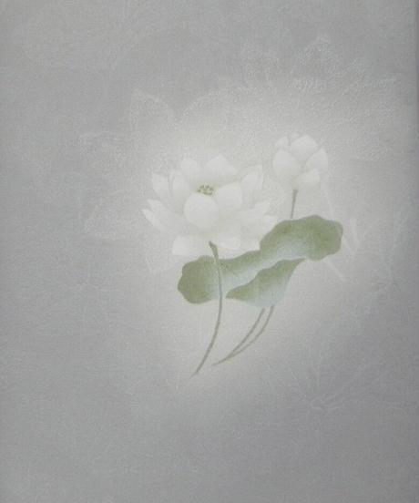 染め名古屋帯「ハスの妖精」(税込み・仕立て代込み)  2-001