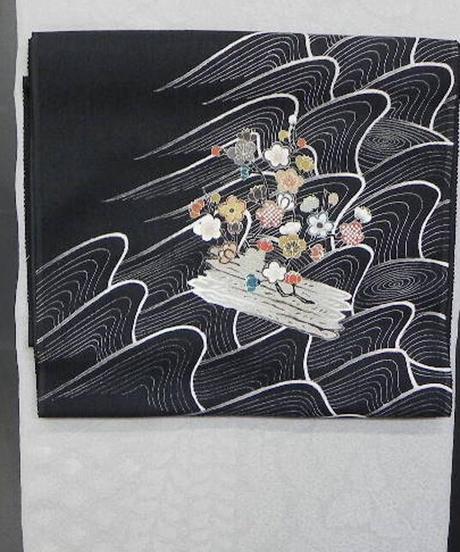 染め名古屋帯「江戸解花筏1」(税込み・仕立て代込み)  3-005