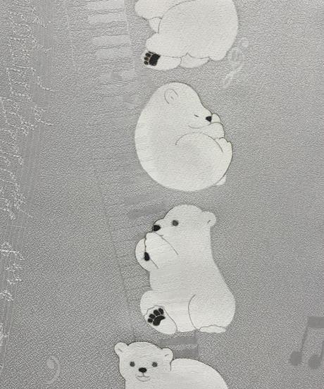 染め名古屋帯「やぁしろくまクン」(仕立て代、送料込み)   4-030