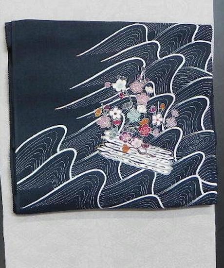 染め名古屋帯「江戸解花筏2」(税込み・仕立て代込み)  3-009
