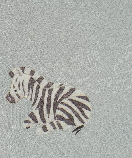 染め名古屋帯「シマウマ・草原のオシャレさん」(税込み・仕立て代込み)     4-035
