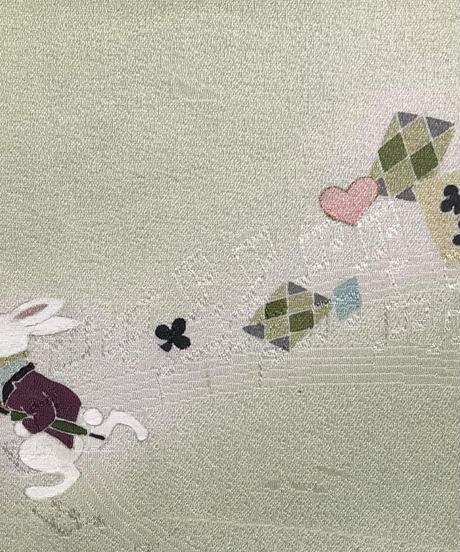染め名古屋帯「不思議の国アリス」🅾️  SOLD OUT                4-004