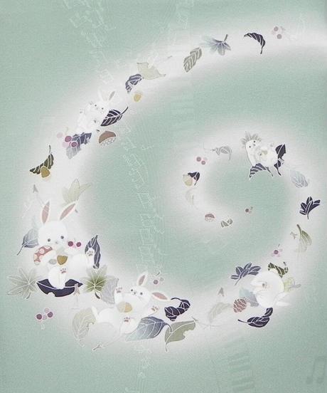 染め名古屋帯「風と戯れて2」(税込み・仕立て代込み)  4-044