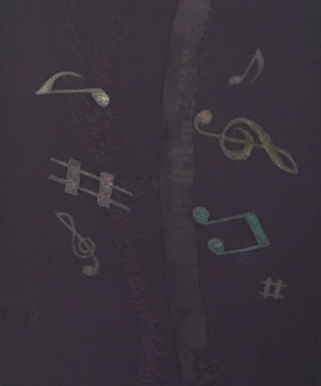 染め名古屋帯「ろうけつ音符」(税込み・仕立て代込み) 2=003