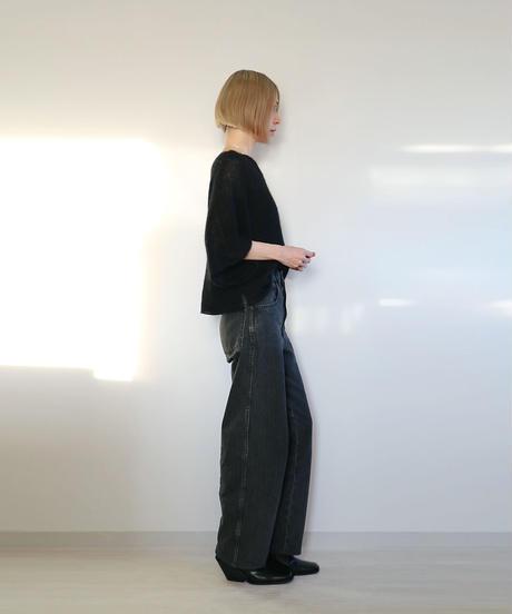 ◆即納◆Borealis[ボレアリス] シルクモヘア・カバー・トップス / ブラック