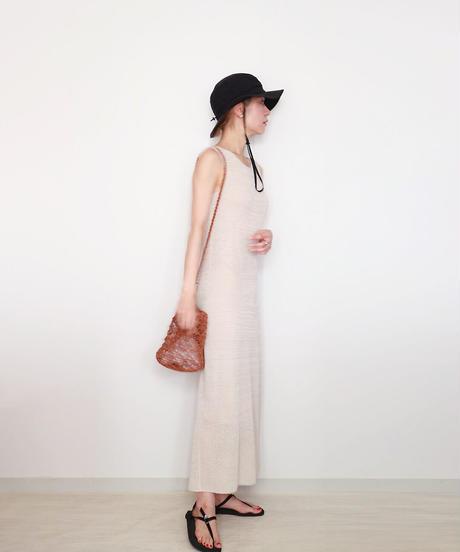 ◆受注制作◆Elnath[エルナト] ペンシル・ドレス / ビーチサンド・ベージュ