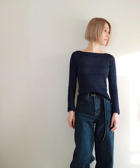 ◆即納◆Becrux[ベクルックス] ボートネック・セーター / ネイビー・ブルー / Mサイズ