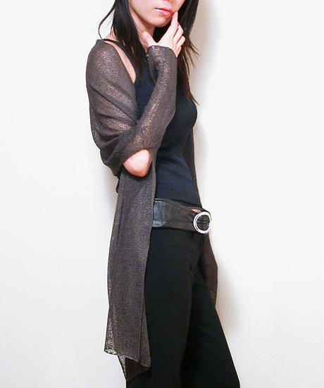 ◆即納◆Rigel[リゲル] 袖付きストール / ブルー・イエロー