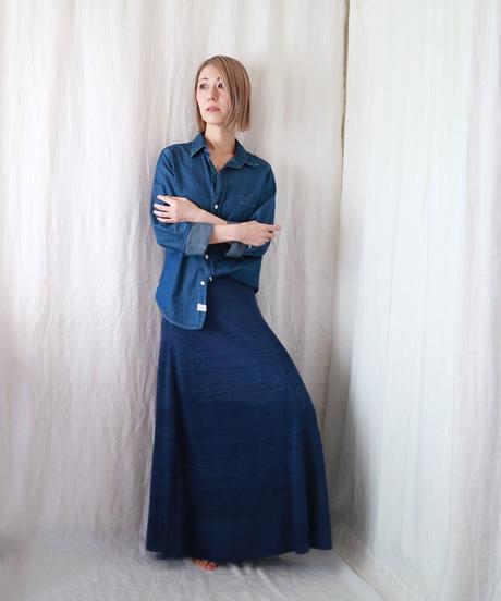 ◆受注制作◆Serpens[セルペンス] フレア・スカート / ナイト・ブルー