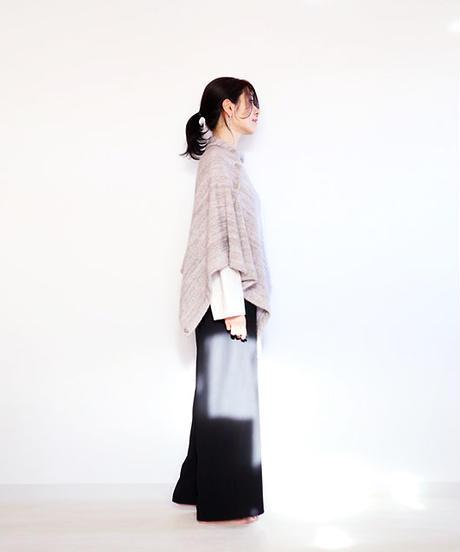 ◆即納◆Chara[カラ] シルクモヘア・ストールポンチョ / グレー系1