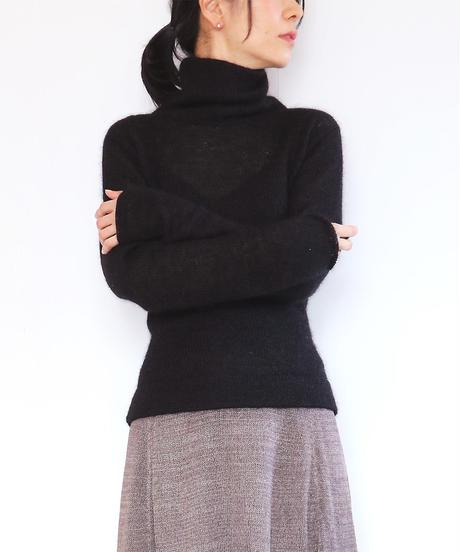 ◆即納◆Menkalinan[メンカリナン] シルクモヘア・トップス3 / ブラック / Mサイズ