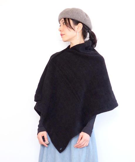 ◆即納◆Phecda[フェクダ] シルクモール・ストール・ポンチョ2 / ブラック