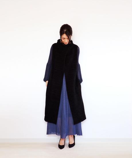◆即納◆Rigil[リギル] シルクモール・ノースリーブコート / ブラック