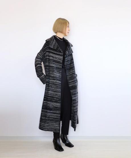 ◆即納◆Algorab[アルゴラブ] シルクモール・ロングコート2 / Mサイズ / ブラック系2