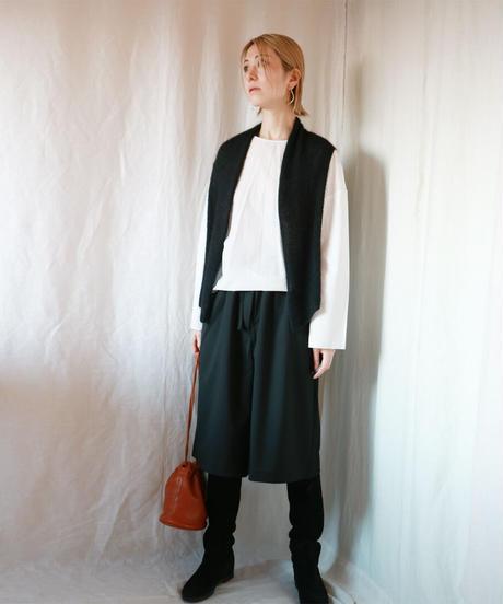 ◆即納◆Sadatoni[サダトニ] シルクモヘア・フレア・ジレ / ブラック