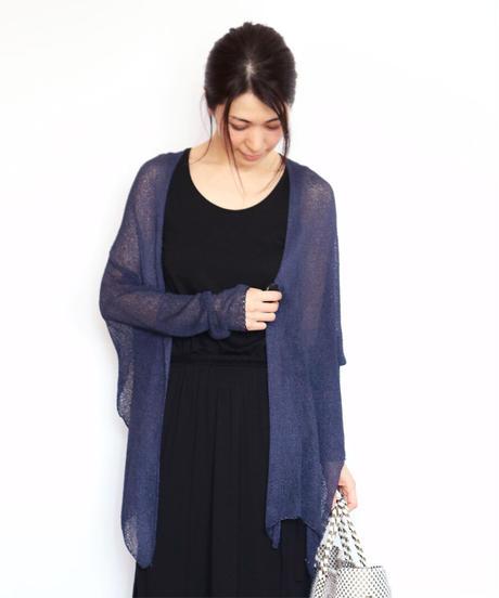 ◆即納◆Alwaid[アルワイド] オールカバー袖付きストール / ネイビー・ブルー