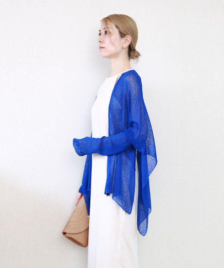 ◆即納◆Alwaid[アルワイド] オールカバー袖付きストール / ロイヤル・ブルー
