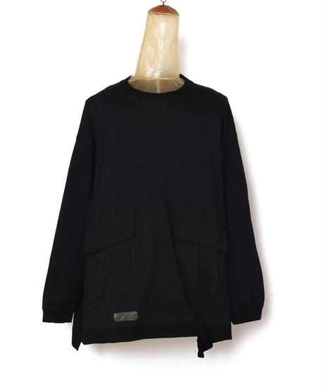 BDU WIDE L-SLEEVE PULL c/#1 BLACK