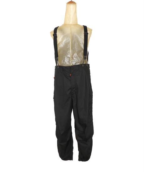 FLIGHT PLEATED SUSPENDER TROUSERS c/#1 BLACK