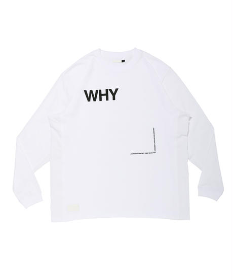 WHY SCREEN WIDE L-SLEEVE TEE c/#2 WHITE