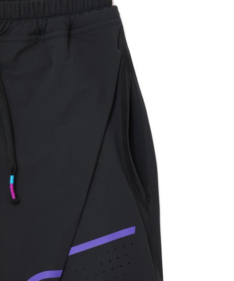 ONE-PLEATS NYLON PANTS # c/BLACK
