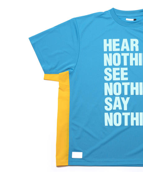 aka: HN.SN.SN. WIDE DRY-TEE / col: AQUA BLUE X YELLOW